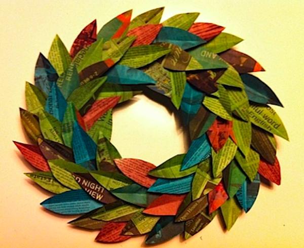 las-manualidades-para-decorar-nuestra-casa-en-navidad-2015-corona-de-papel