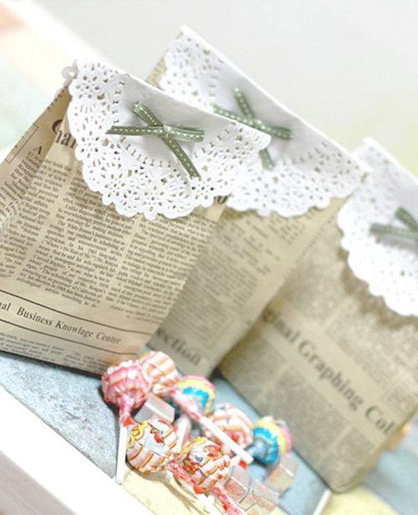 manualidades-con-papel-de-periodico-bolsas-de-regalo