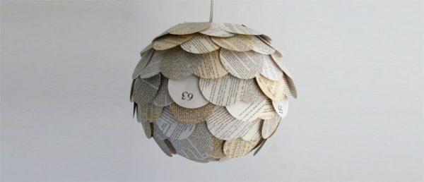 manualidades-con-papel-de-periodico-lamparas