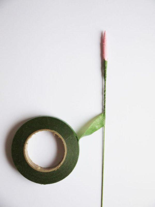 ramo de flores de papel para San Valentín petalo triangulo flor papel