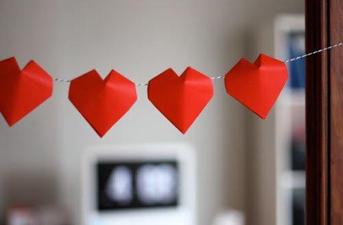 corazones papiroflexia