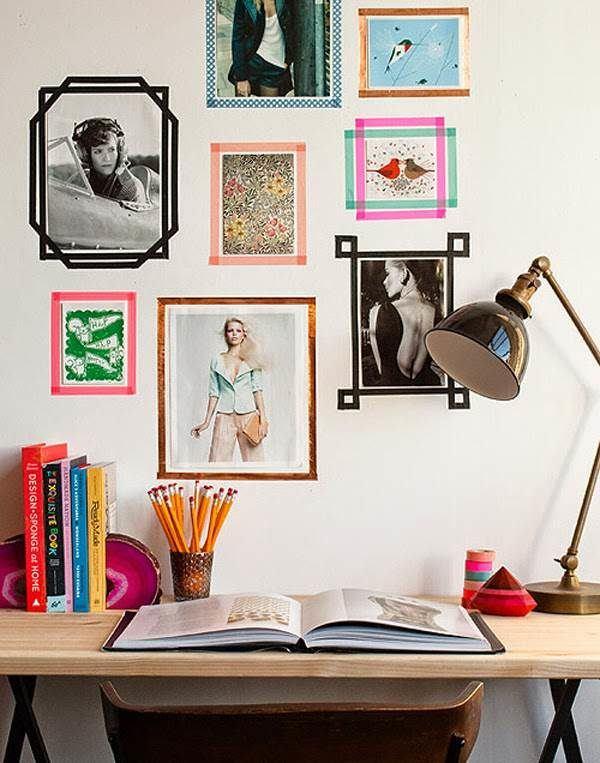 decorar paredes con celo decorativo