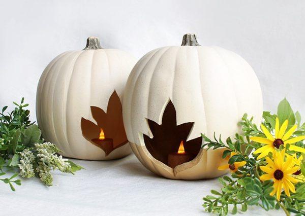 como-decorar-una-calabaza-en-halloween-hojas-otono