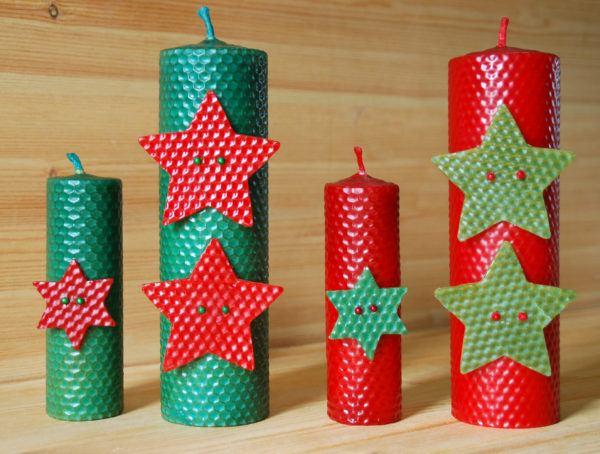 hacer-velas-decorativas-para-navidad-de-estrella