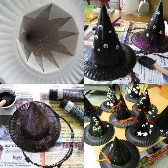 manualidades-halloween-bruja-sombreros