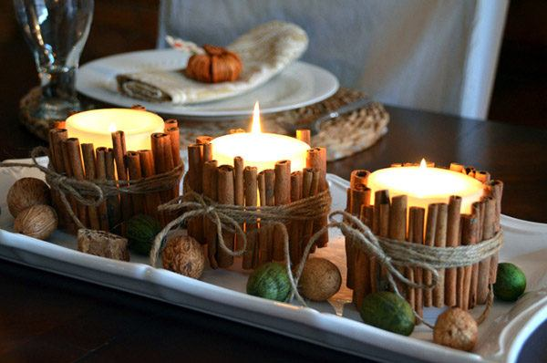 velas-decorativas-con-canela-centro-de-mesa