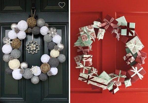 decoracion-de-navidad-para-puertas-coronas-bolas-y-regalos