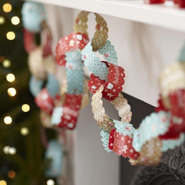 decoracion-navidena-vintage-guirnalda-papel
