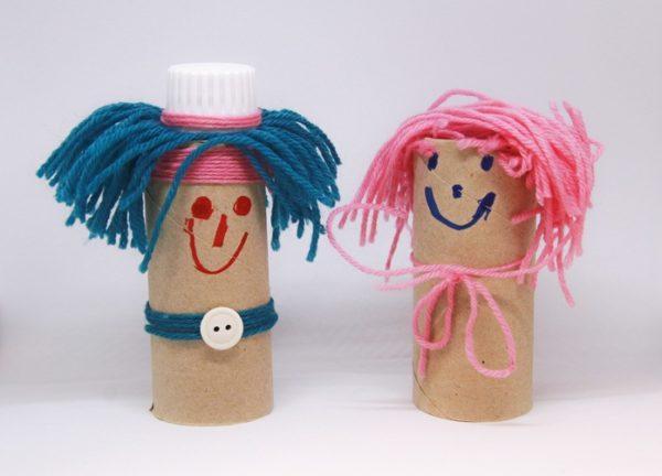 Manualidades con materiales reciclados para niños cartones lavabo