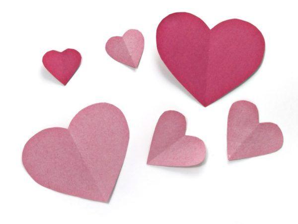 Como hacer un corazon de papel facil paso a paso