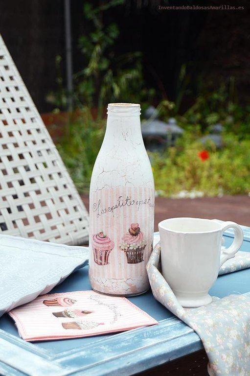 Reciclaje Ideas Para Decorar Botellas De Cristal O De Vidrio Manualidades Es