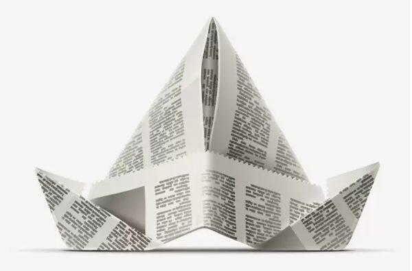 Ideas de manualidades con papel de periodico gorro