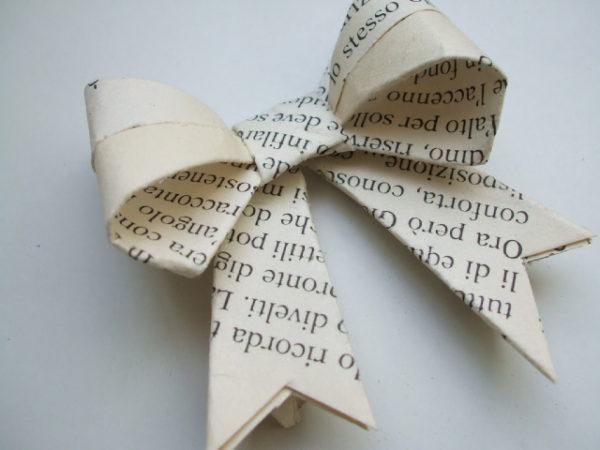 Ideas de manualidades con papel de periodico lazo