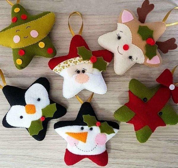 Adornos de Navidad de fieltro 2020