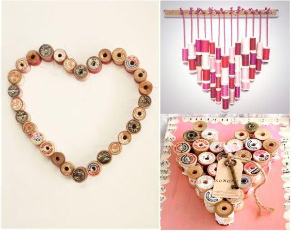 manualidades-de-material-reciclado-con-bobinas-de-hilo-uma-decoracion