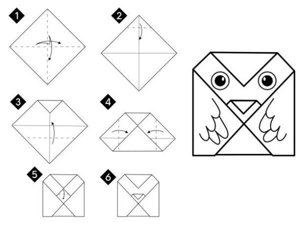 Papiroflexia ninos origami buho pequeño