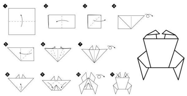 Papiroflexia ninos origami cangrejo