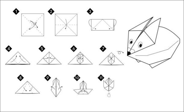 Papiroflexia ninos origami conejito