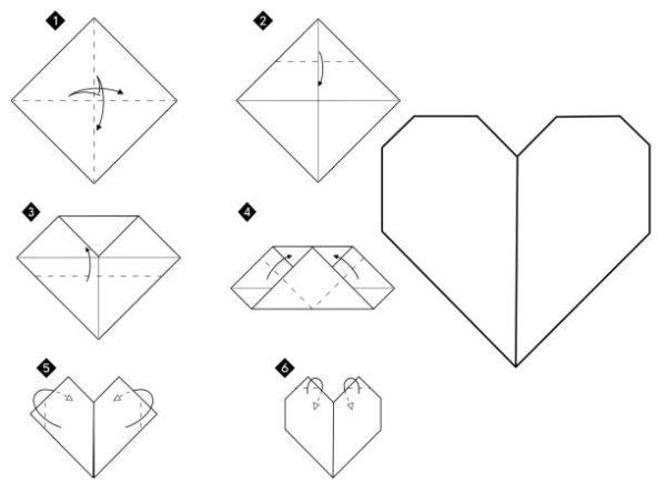 Papiroflexia ninos origami corazon