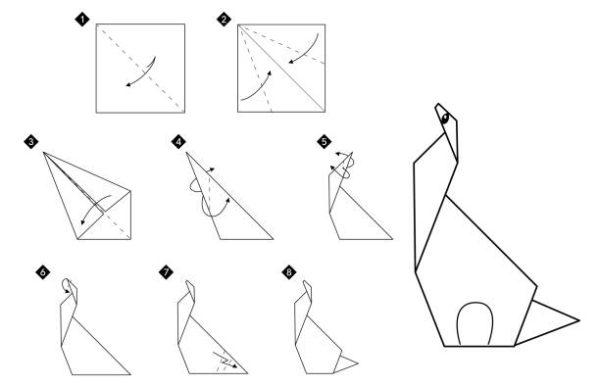 Papiroflexia ninos origami dinosaurio
