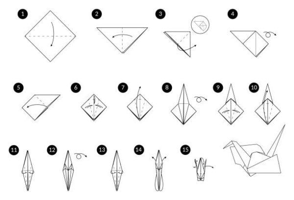 Papiroflexia ninos origami grulla