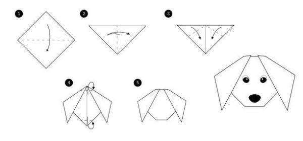 Papiroflexia ninos origami perro