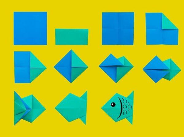 Papiroflexia ninos origami pez