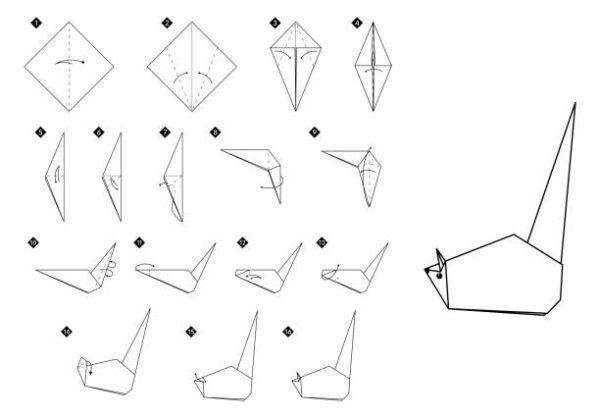 Papiroflexia ninos origami raton