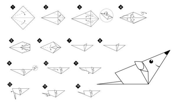 Papiroflexia ninos origami ratoncito