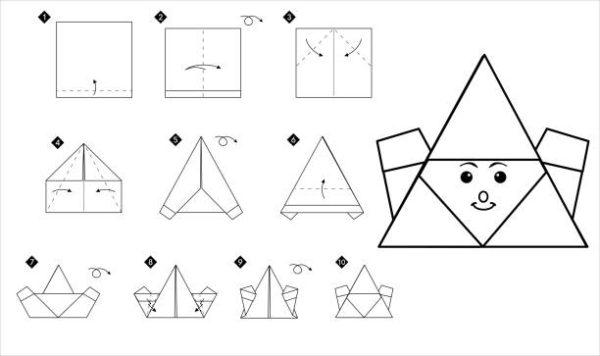 Papiroflexia ninos origami santa claus