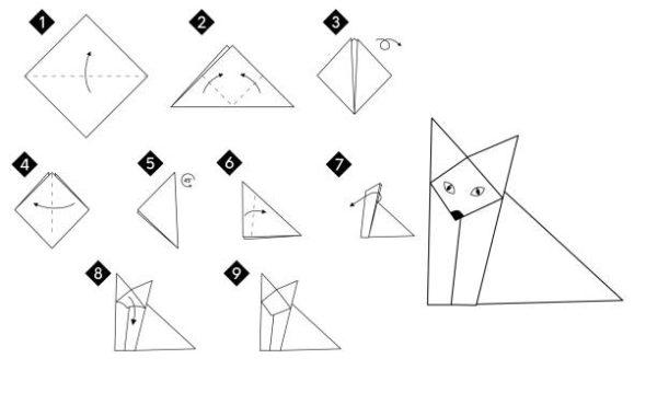 Papiroflexia ninos origami zorro