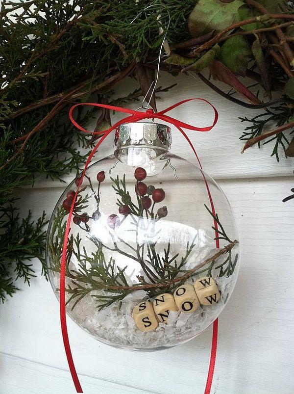 Adornos para el arbol de navidad bola transparente
