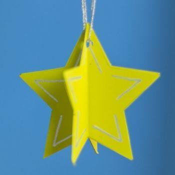 Adornos para el arbol de navidad estrella cartulina