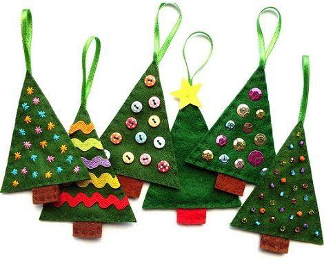 Adornos para el arbol de navidad fieltro arbol navidad