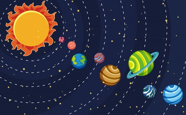 Dibujos sistema solar colores