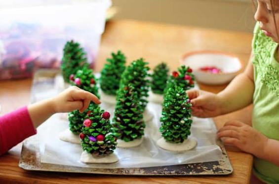 piñas pequeñas de navidad