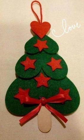 árbol navideño con goma eva