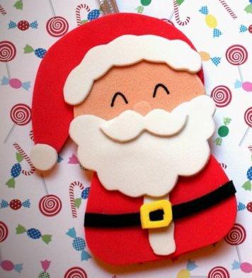 papa noel con goma eva para navidades 2021