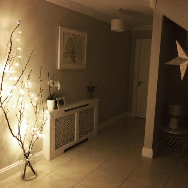 Como hacer arbol navidad ramas largas luces