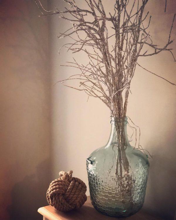 Como hacer arbol navidad ramas secas y pintadas