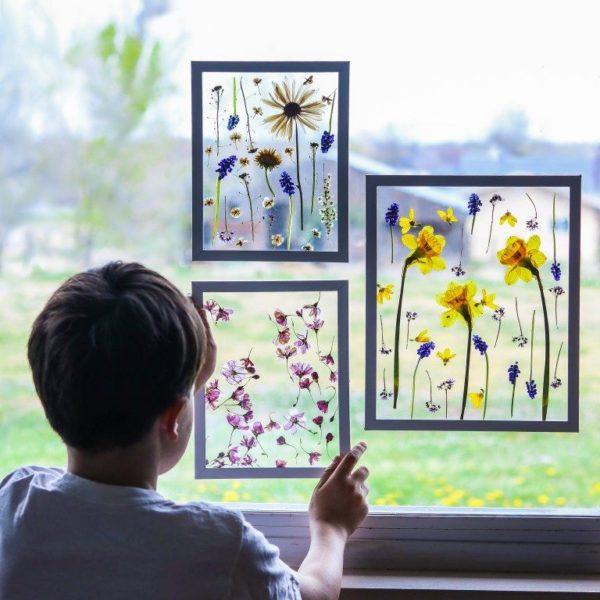 Ideas manualidades con rosas secas marco ventana