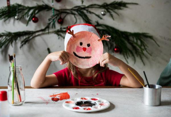 Manualidades para navidad 2020 faciles y para ninos careta reno