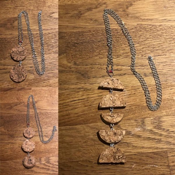 manualidades con corcho collar de @ recycledupcycledgifts
