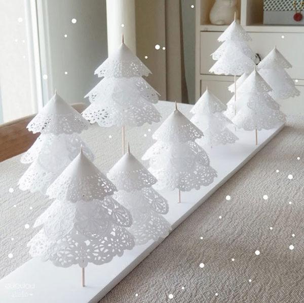 Arboles navidad reciclados blondas