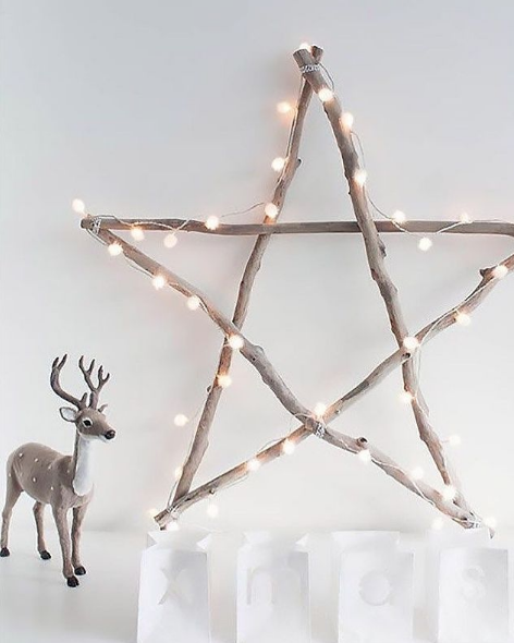 Manualidades de Navidad para niños para hacer este puente de Diciembre 2021 estrella con luces