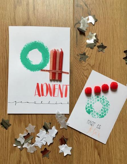 Manualidades de Navidad para niños para hacer este puente de Diciembre 2021 tarjeta felicitación