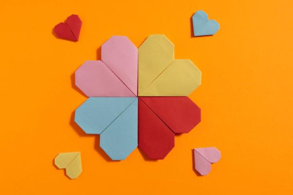Manualidades para san valentin para ninos flor corazon