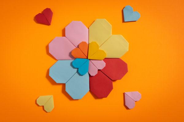Manualidades para san valentin para ninos flor origami