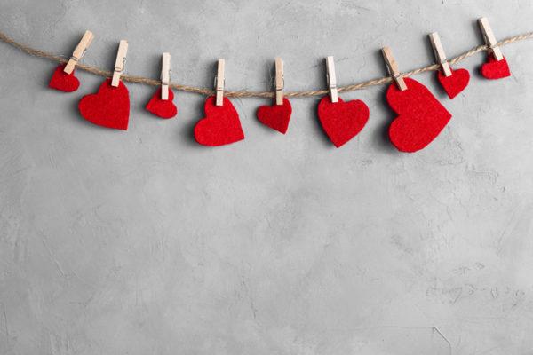 Manualidades para san valentin para ninos guirnalda corazones