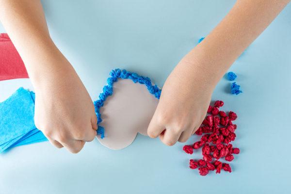 Manualidades para san valentin para ninos piedras de colores para corazon